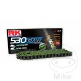 RK Kette  X-Ring  110 Glieder GXW offen mit Nietschloß 530 Teilung Farbe grün.