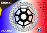Bremsscheibe schwimmend Kawasaki vorne 1 Stück Farbe Silber, ABE.