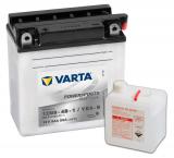 Batterie YB9-B, 12N9-4B-1 Standard mit Säurepack von Varta.